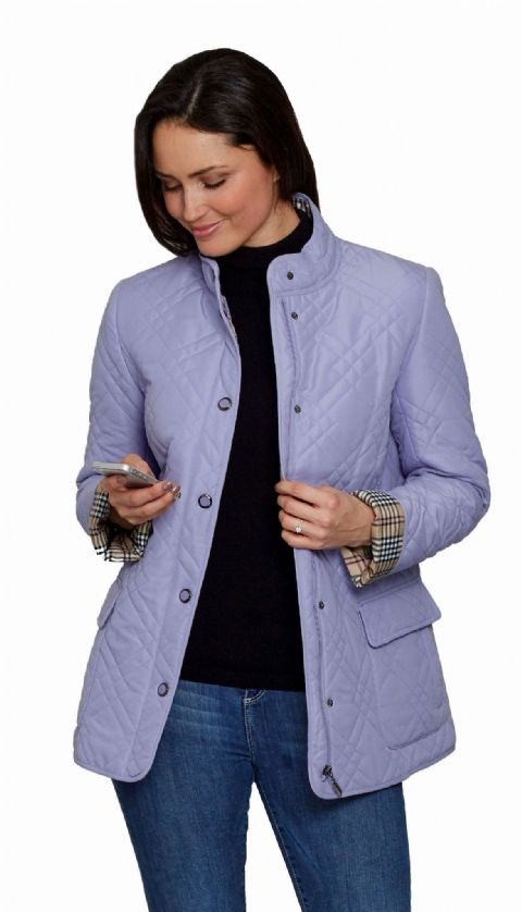Womens Quilted Collarless Jacket db602